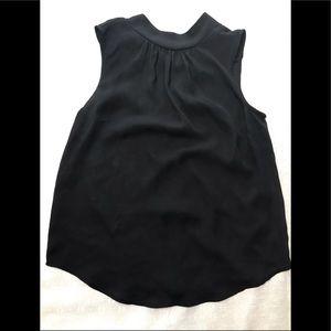 XS, black sheer, tank blouse
